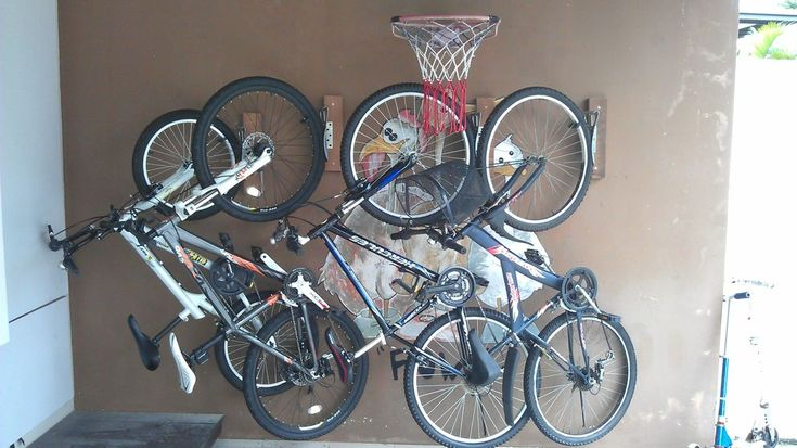 Homemade bicycle Wall Mount #bikes #storage #organization #garage
