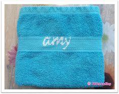 DIY: zelf #tekst #borduren op #handdoek