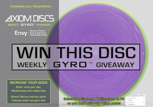 Axiom Discs Neutron Envy Disc Golf Putter {WW} (06/19/2016) via... sweepstakes IFTTT reddit giveaways freebies contests