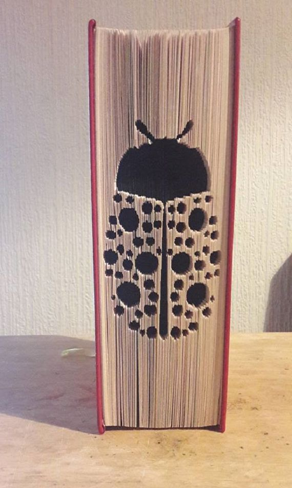 A cute ladybird/ladybug cut and fold pattern. Great for an insect lover. CUT AND FOLD  20cm book  499 pages