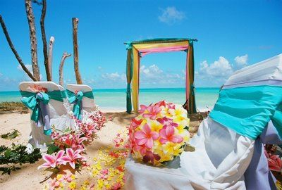 Hawaaiian/ beach ceremony