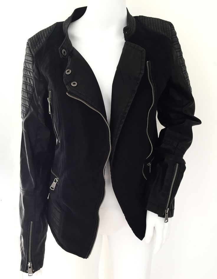 leatherette adnd suede jacket-R650