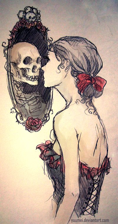 Mirrors:  #Mirror, by yuumei, at deviantART.