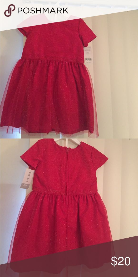 Toddler girl 24 month red Holiday dress new Carter's toddler holiday dress in red. Never worn. Red and Sparkly Carter's Dresses Formal