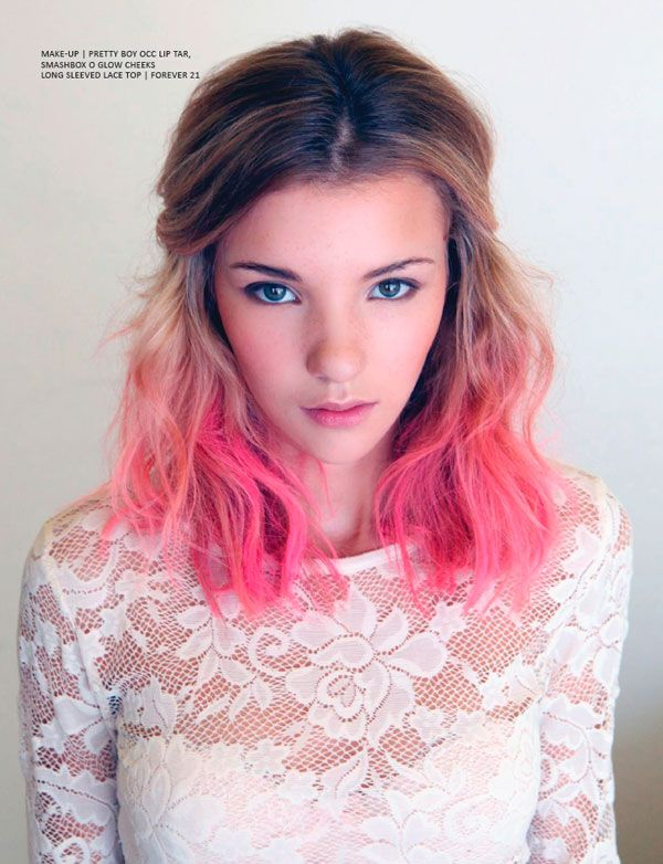 <3Feathers Boa, Dips Dyed, Shorts Hair, Pink Hair, Summer Hair, Ombre Hair, Blondes, Pink Dips Dyes, Hair Color