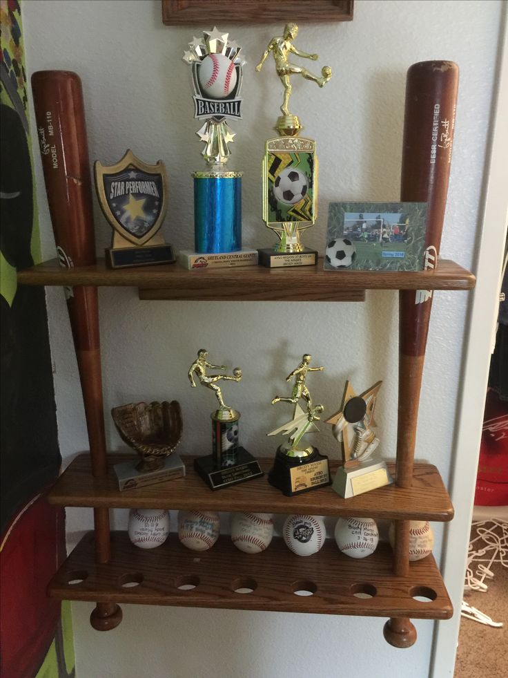 Awesome Baseball Trophy Case Made From Old Wooden Bats.