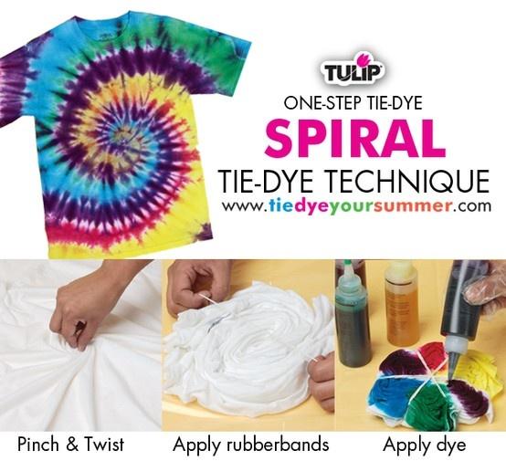 Spiral Tie Dye Technique using Tulip One-Step Tie-Dye !