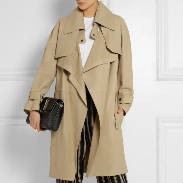 CHLOE -Convertible leather trench coat -THE SHAPE OF THE SEASON