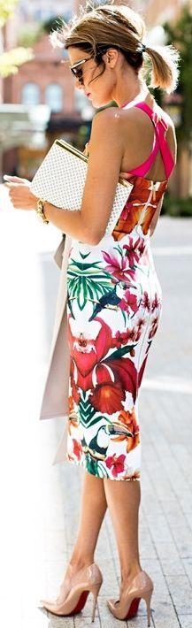 #street #style floral dress @wachabuy