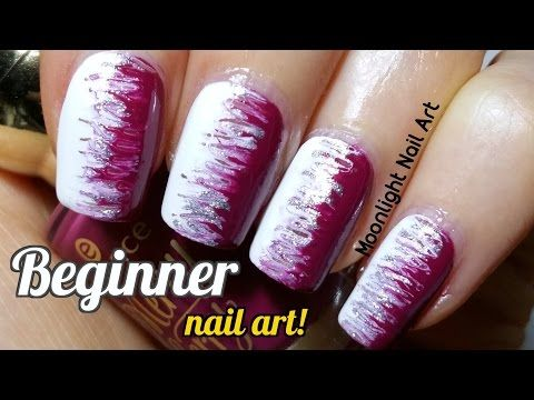 Easy Nail Design for Beginners - Toothpick Nail Art - YouTube