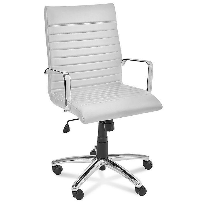 leather fashion chair white h 4120w 195 uline com studio rh pinterest com