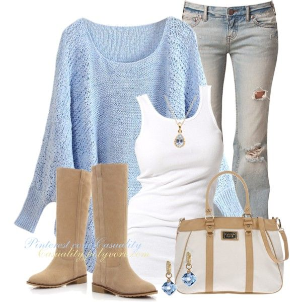 A fashion look from October 2014 featuring Soaked in Luxury tops, Free People jeans and Versace shoulder bags. Browse and shop related looks.