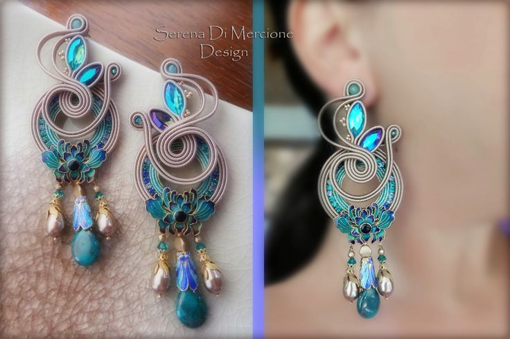 Soutache earrings - liberty style- by Serena Di Mercione