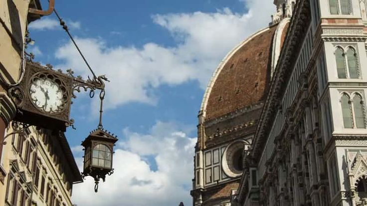 Clock near the Duomo in Florence