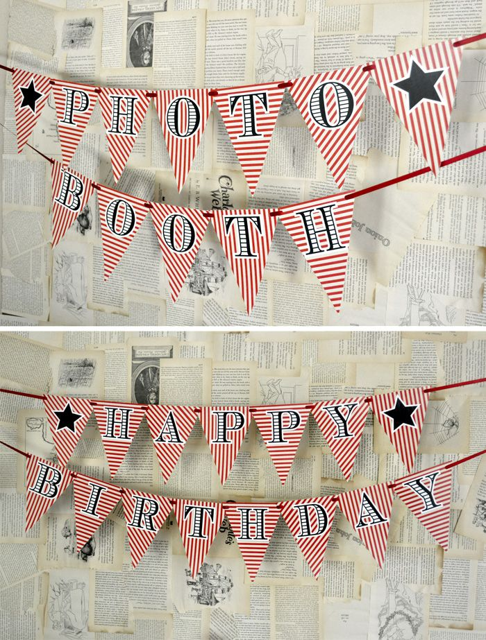 Photo Booth Printable Banners 43 best