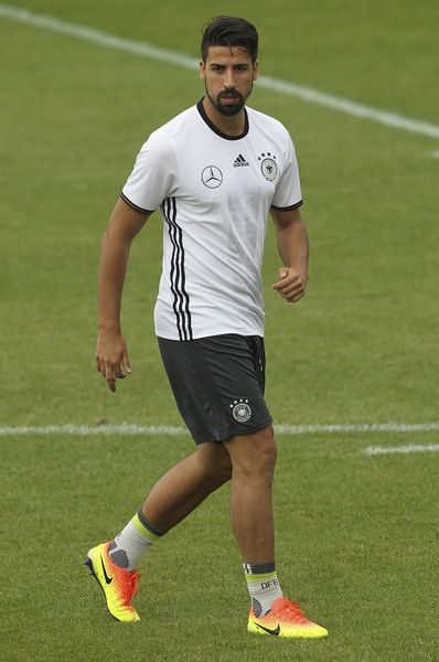 Sami Khedira of Germany looks on during the German national team's pre-EURO 2016 training camp on May 28, 2016 in Ascona, Switzerland.