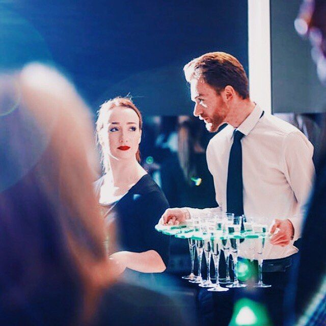 Grab a prosecco its FRIDAY!  Heres a candid snap of two of our waiting staff at an Grange Aston Martin event at the beginning of this year.
