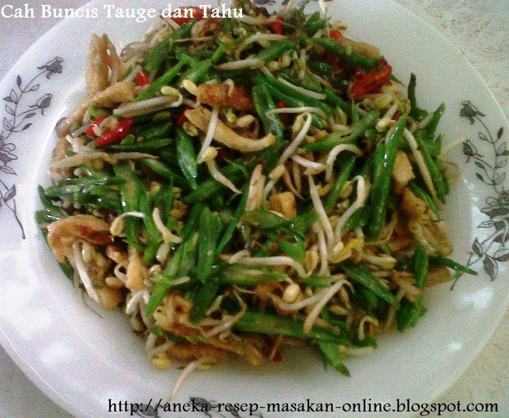 Cah Buncis Tauge dan Tahu - bumbu Oriental. Yuk simak resepnyahttp://aneka-resep-masakan-online.blogspot.co.id/2015/09/cah-taoge-buncis-dan-tahu-bumbu-oriental.html