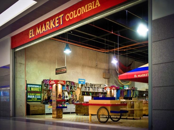 EL MARKET / Diseño de punto de venta. Una experiencia glo-cal: todo un país en una tienda  www.aluzian.com