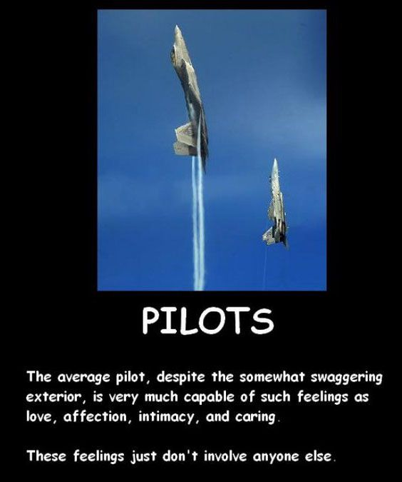 Pilots ARE capable of feelings...