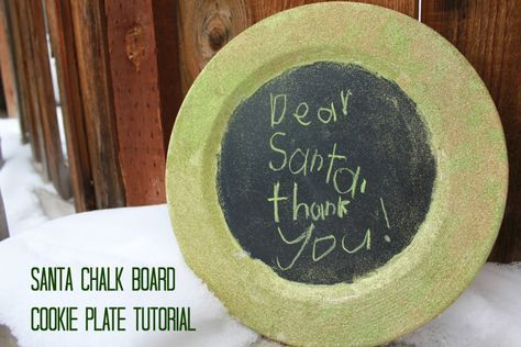 Chalk Board Santa Cookie Plate - Keep Moving Forward With Me