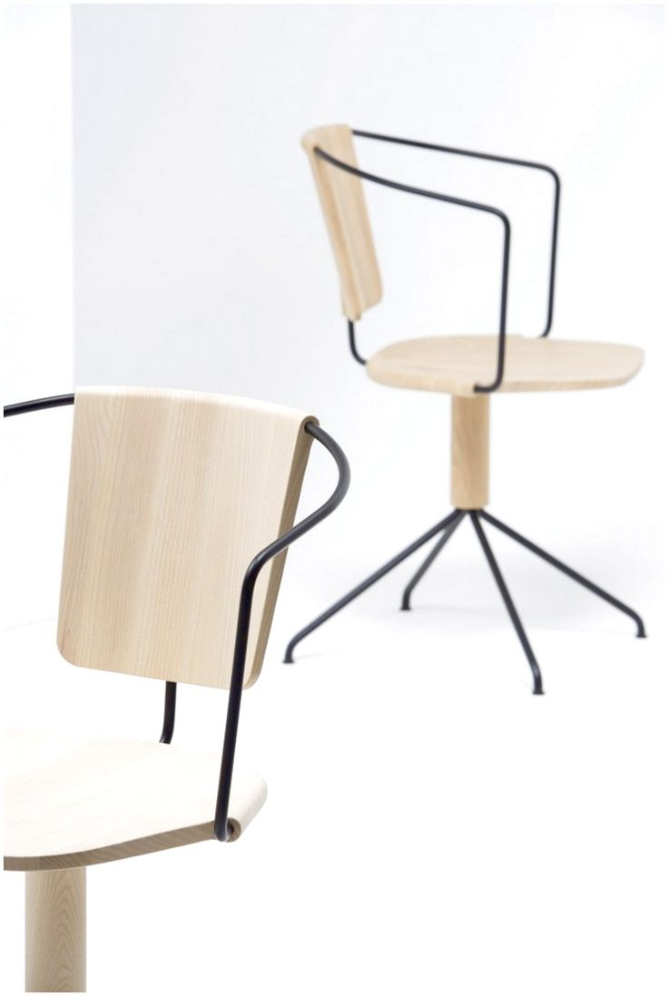 RONAN & ERWAN BOUROULLEC FOR MATTIAZZI UNCINO WITH TWO BROWN CHAIRS NICE AND INTERESTING