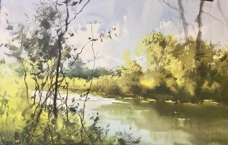 Herman Pekel, plein air watercolours Madeline Island Wisconsin