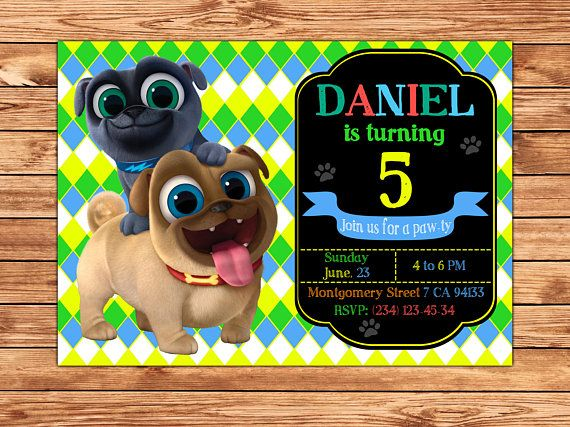 Puppy Dog Pals Invitation Puppy Dog Pals Party Invitation Diy Puppy Dog Pals Birthday Party Puppy Dog Pals Printable Digital File Digital Invitations Dog Birthday First Birthdays