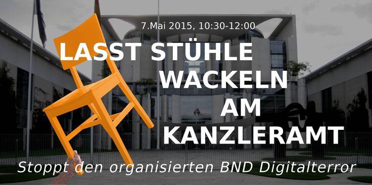 Lasst Stühle wackeln! Demo Aufruf 7.Mai,10:30 Bundeskanzleramt