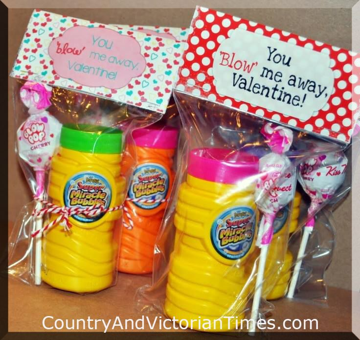"""""""You Blow Me Away"""" Valentines Day Bags"""