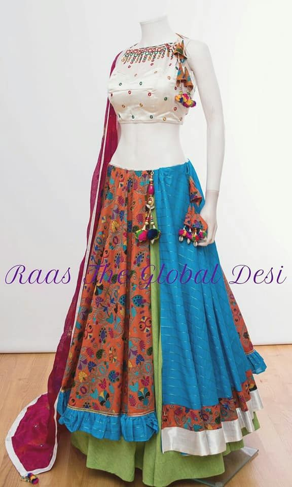 3d6a070651bf42 Multicolor Printed Layered New Design Chaniya Choli For Navratri # navratrichaniyacholi #multicolor #prints #chaniyacholi #navratrispecial