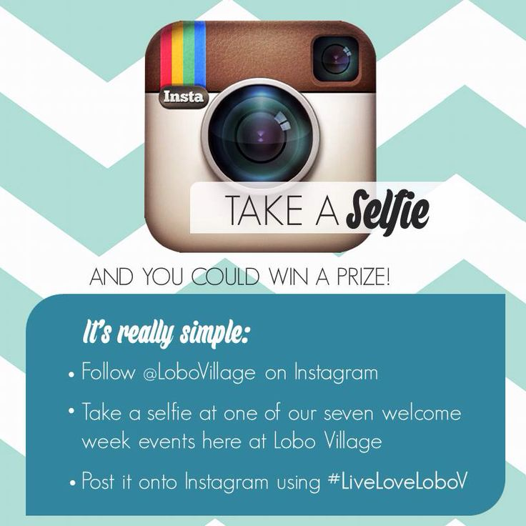 Selfie contest to promote attendance at programs