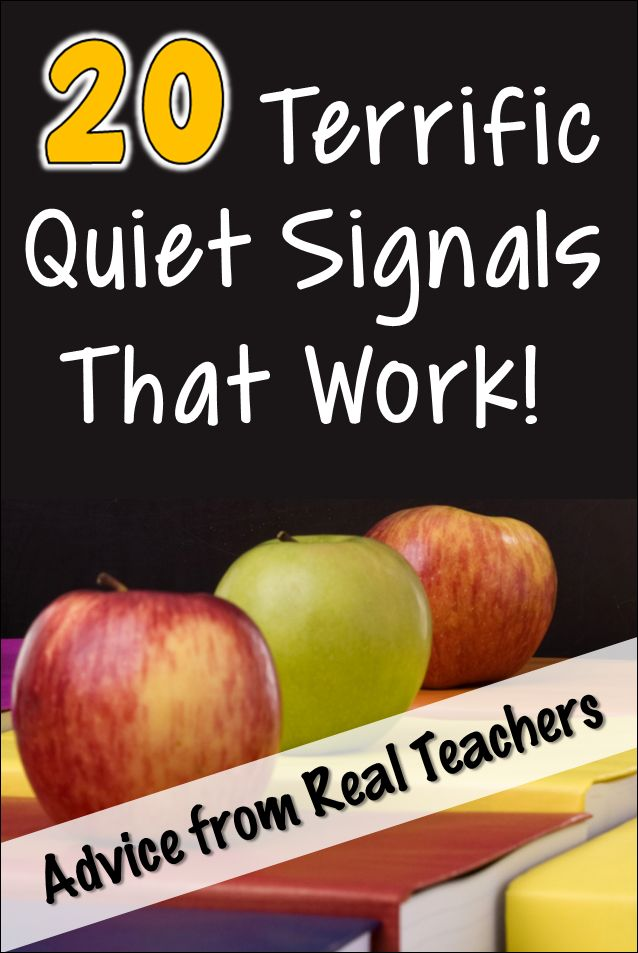 What's your favorite quiet signal? Check out these terrific quiet signals that include everything from call and response strategies to fun noise-making objects like train whistles and rain sticks!