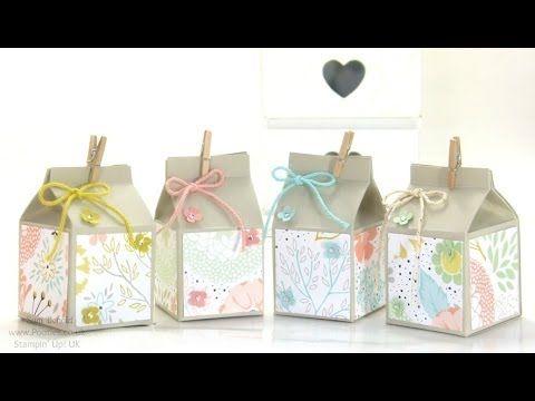 Stampin' Up! UK Mini Hand Cut Milk Cartons Tutorial