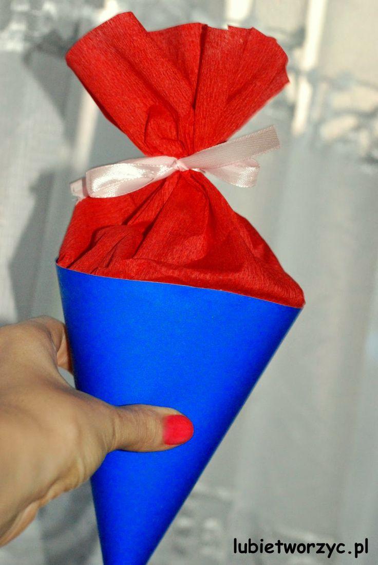 Rożek obfitości - prezent z okazji pasowania na przedszkolaka   #lubietworzyc #DIY #handmade #howto #preschool #kindergarten #instruction #instrukcja #jakzrobic #krokpokroku #przedszkole #papercraft #rozekobfitosci #prezent #gift #present #presentbox #hornofplenty