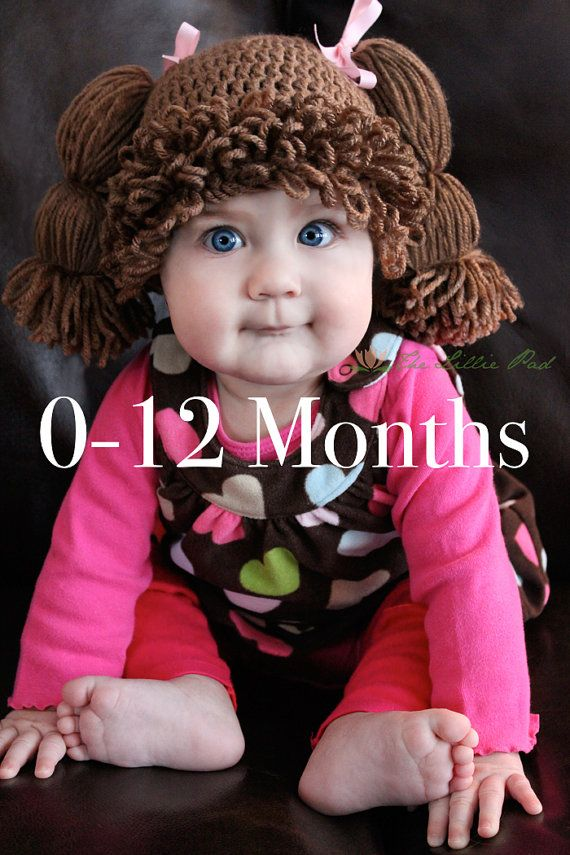 Thinking about a Halloween costume for you or a little one? Check out this crochet Cabbage Patch Kid Inspired Crochet Wig/Hat by The Lillie Pad. Each one is custom handmade in all sizes from Newborn through Adult XXL and available in 9 different hair colors. As featured on GMA, The Daily Mail, Today, and more! Order early as we book up on orders before Halloween! Ships worldwide. thelilliepad.etsy.com