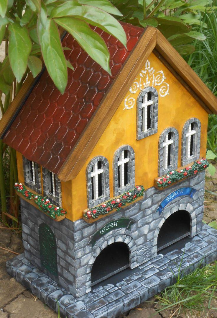 "Handpainted Tea House | Чайный домик ""Green & Black"""