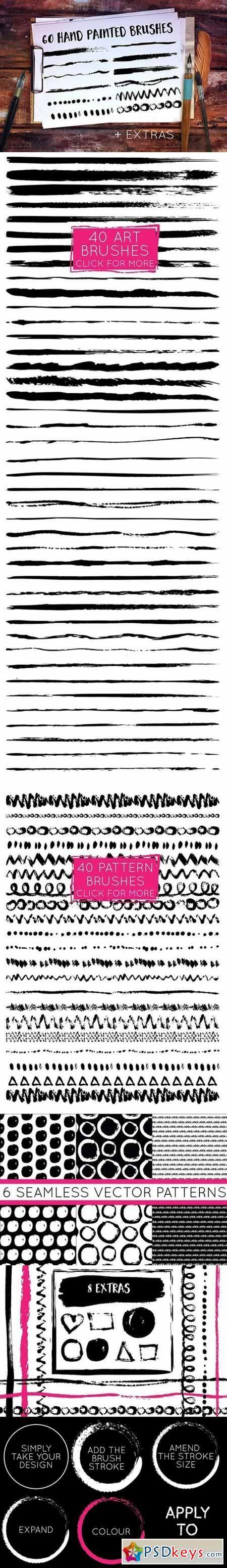 Handpainted Brush Stroke Brushes 553641 206 best