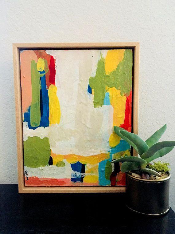 original painting abstract landscape framed art ready to hang rh pinterest com