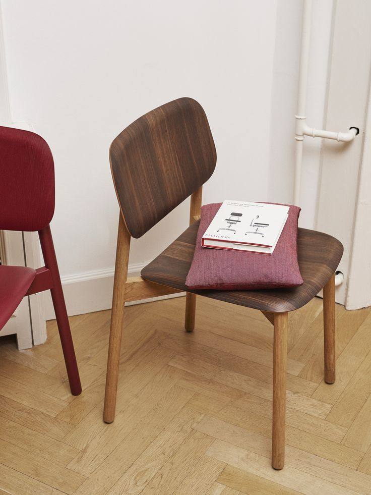 Soft Edge chair and Eclectic cushion.