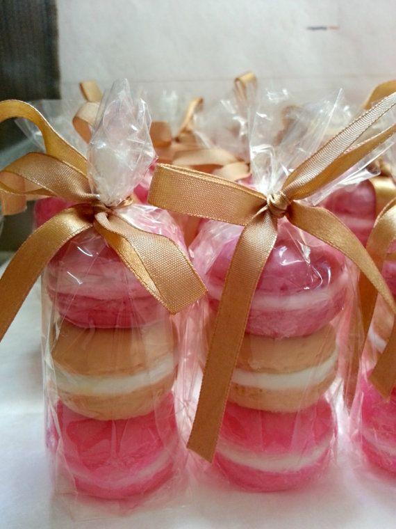 Best 25 Macaroon favors ideas on Pinterest Pink macaron wedding