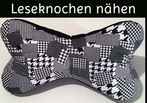 Leseknochen nähen⏵ Nähanleitung⏵ Anleitung ⏵ www.leseknochen.net ⏵ Dein Info Portal zum Leseknochen selber nähen und vieles mehr.