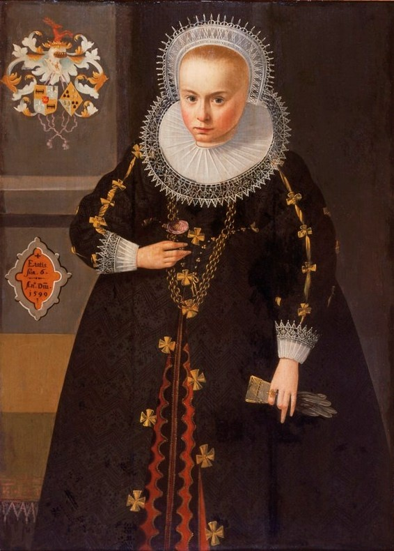Adriaen van der Linde, Portrait of Sijds van Cammingha at the age of six, 1599 - Leeuwarden, Fries Museum