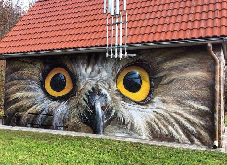 Chouette la chouette ! / Owl. / Streetart. / RoyalTS.