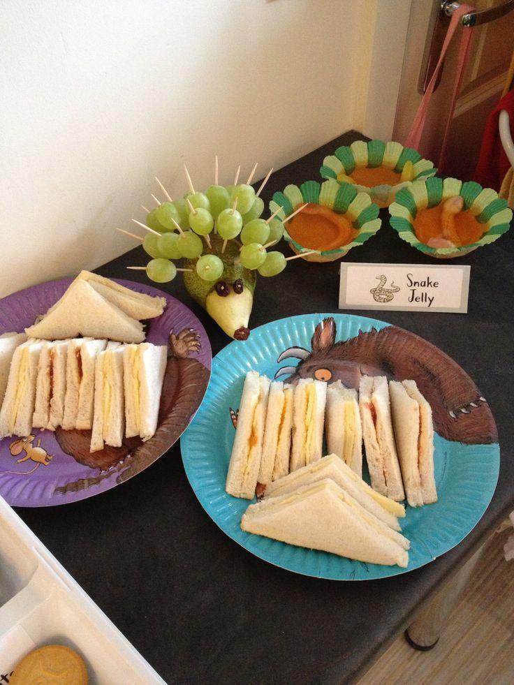 Gruffalo Party Buffet Food. Like the hedgehog!