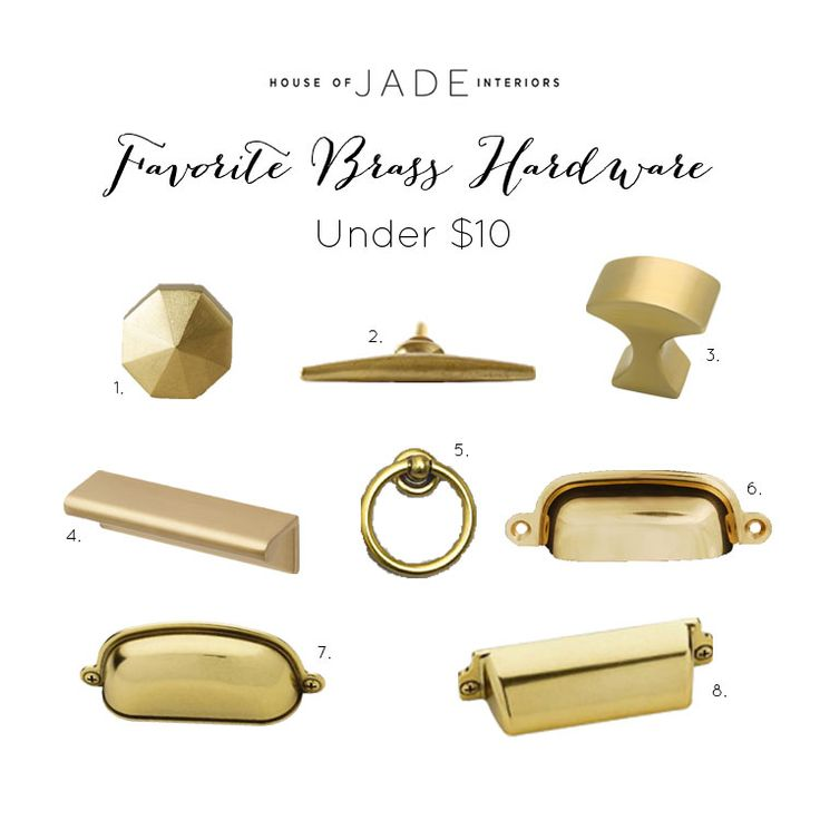 Favorite Brass Hardware Under $10 - House of Jade Interiors Blog