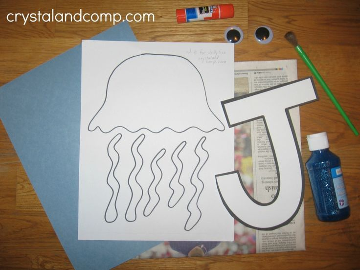 J is for Jellyfish: Letter of the Week Preschool Craft-free printable