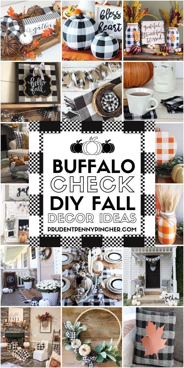 30 pomysłów na jesienne dekoracje w stylu Buffalo Check