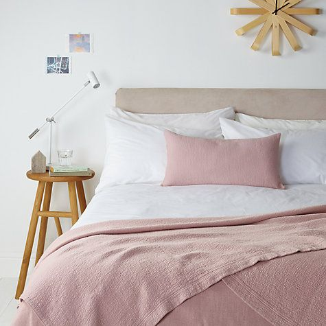 Buy John Lewis Decor Matelassé Throw, Hushed Pink Online at johnlewis.com