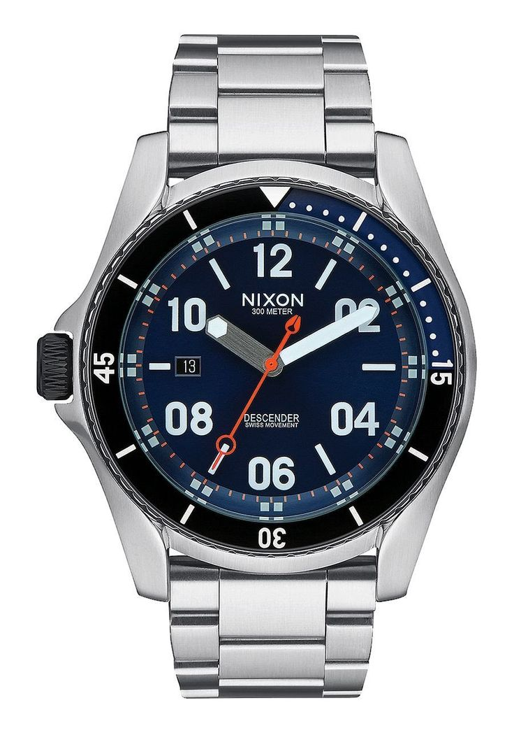 Nixon Descender Blue Sunray Stainless Steel Analog Watch - Blue Sunray